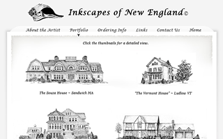 Inkscapes of New England, design, markup and flash.