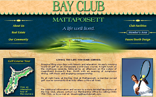 Bay Club Mattapoisset, design and golf course flash.