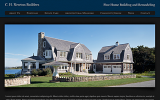 Wordpress Theme and Development - CH Newton Builders, Cape Cod.