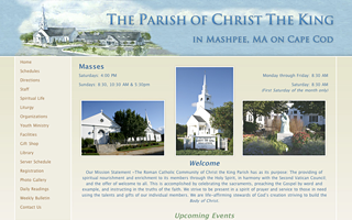 Drupal Theme - Christ The King Parish, Cape Cod.