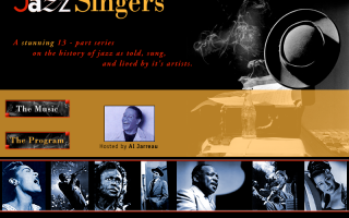 Jazz Singers Radio for Smithsonian Productions, design and flash.