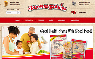 Magento/Wordpress Integration, Custom Theme & Development - Joseph's Bakery