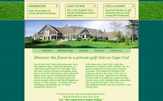 Kingsway Golf Course, design, markup and flash.
