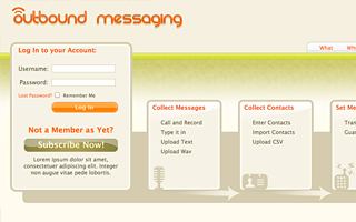 Theme For ROR VOIP Application, Design & Markup - OutboundMessaging.com