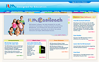 RM Education, Drupal, design, markup and flash videos.