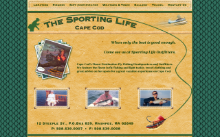 The Sporting Life, design, markup and flash.