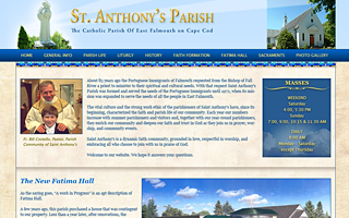 Drupal Custom Theme and Development - St Anthonys Parish, Cape Cod.